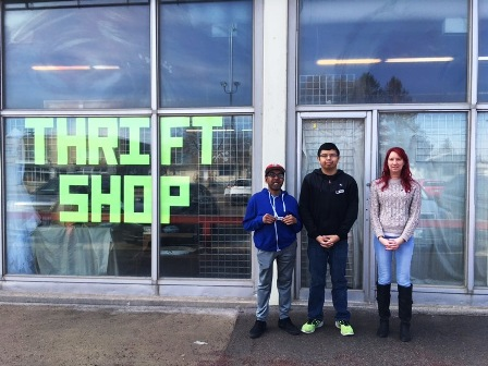 Image: Trailblazers staff and volunteers at Prairie Crocus thrift store