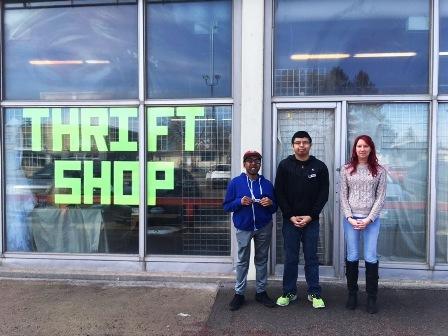 Image: Trailblazers staff and volunteers at Prairie Crocus thrift store