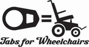 Tabs for Wheelchairs decal
